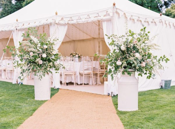 Spring Wedding Inspiration for a Marquee bridalmusings.com - annkathrinkoch.com