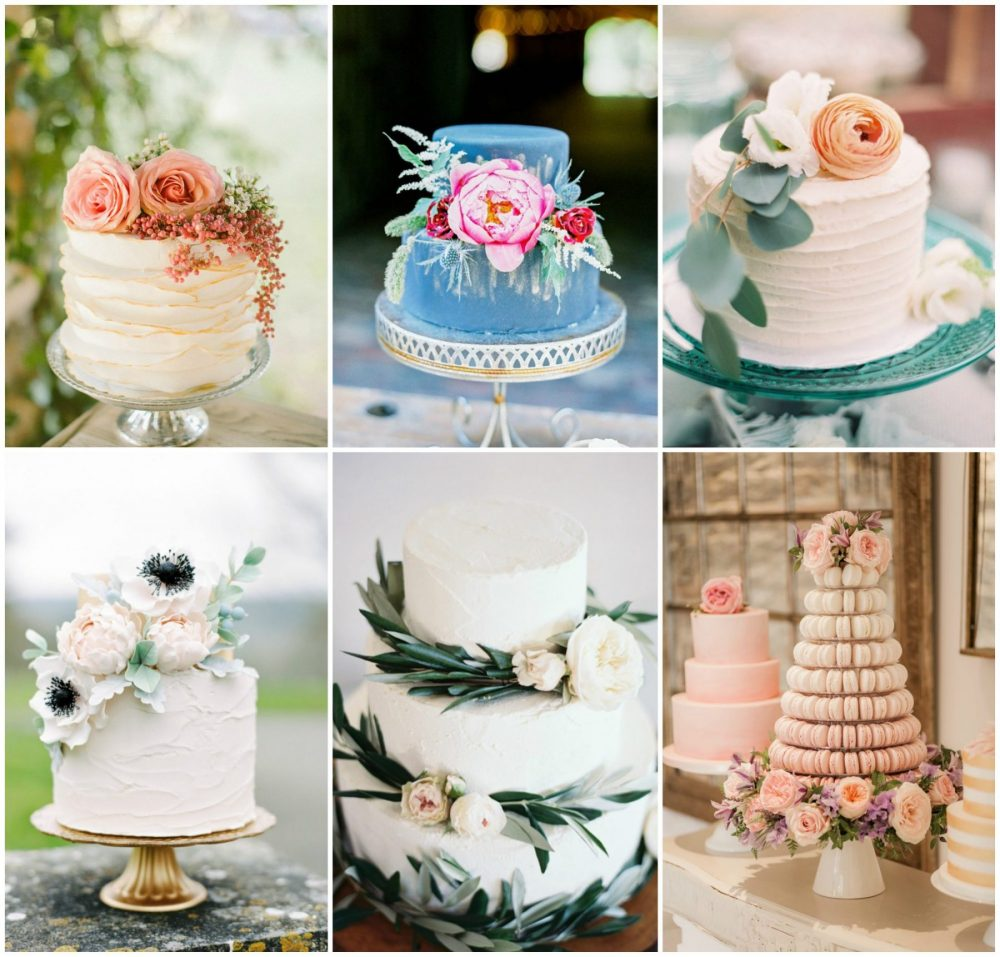 Delicious Inspiration for Beautiful Floral Wedding Cakes