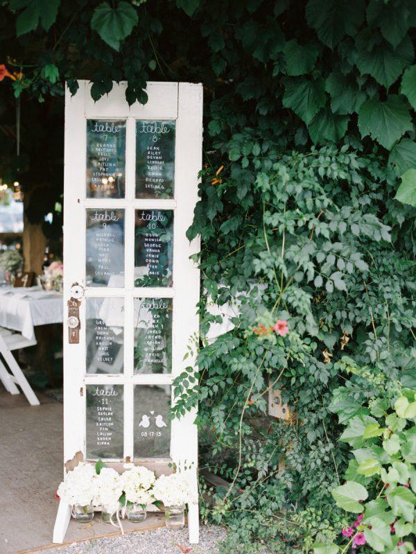 vintage wedding table plan theme