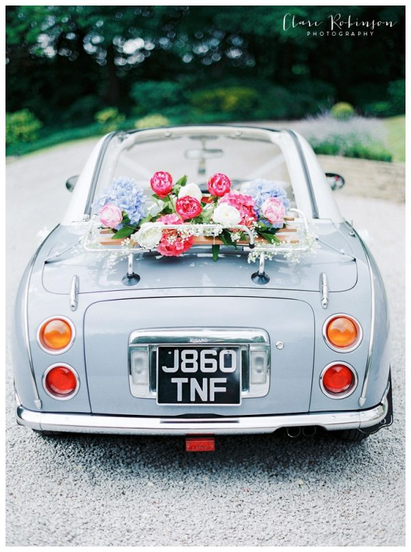 Beautiful Ways to Decorate your Wedding Getaway Car clare-robinson.co.uk