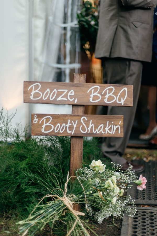 15 Fun Ways To Use Wedding Signs At Your Big Day whimsicalwonderlandweddings.com - purplepeartreephotography.com